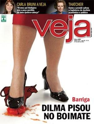 Capa Veja Dilma Tomate