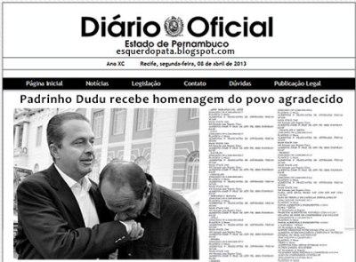 Montagem do D. O. de Pernambuco