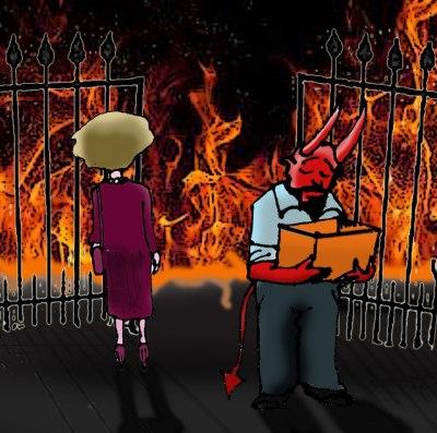 Thatcher chega ao inferno